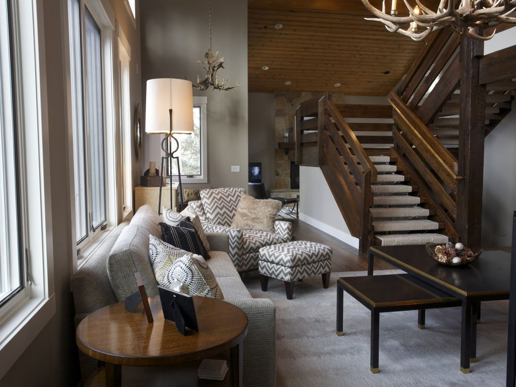 deer valley designer s home book now homeaway deer valley grand staircase to upper and lower levels