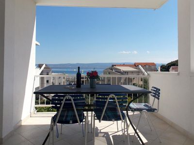 Photo for Two bedroom apartment with terrace and sea view Duće, Omiš (A-4798-e)