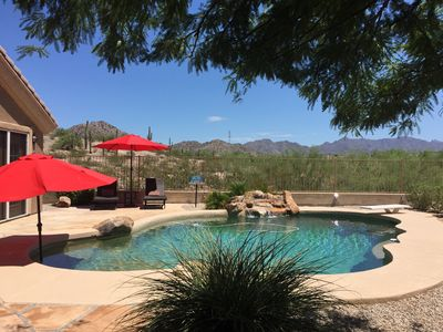 Photo for Estrella mountain ranch home with a view and pool Beautiful nature preserve