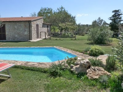 Photo for Wonderful private villa with WIFI, private pool, pets allowed, panoramic view and parking