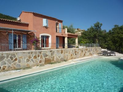 Photo for Villa for 8 people with swimming pool and sea view.