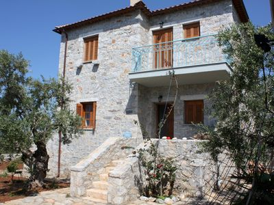 Photo for Idyllic located among olive groves, great sea view, wifi: holiday house Messenia