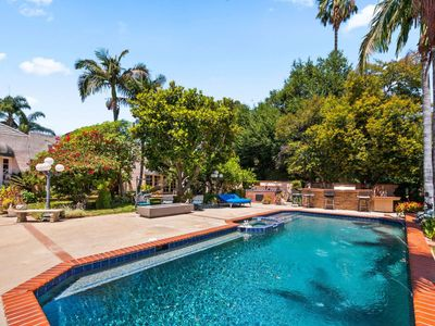 Photo for Walkable Location Ventura Blvd! Resort Like Villa Private Pool - Tennis Court - Jacuzzi - Gated Home
