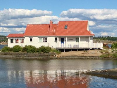 Fjord House pictured from shore