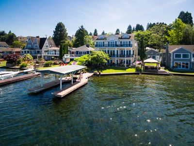 Photo for July Specials! Luxurious  Lake Washington retreat with moorage