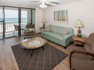 Photo for Remodeled Gulf-Front 2/2, Sleeps 6, Balcony, W/D, WiFi, Pool, BBQ, Free Activities - Romar Tower 4B