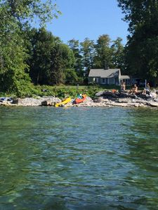 Photo for Waterfront Cottage with Guest House, between Cape Vincent and Tibbetts Point