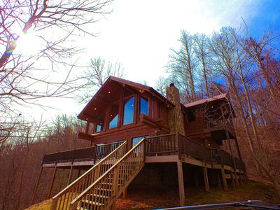Photo for *$150/Night Spring Special* Luxurious Log Cabin With distant views of Mountain Vistas!