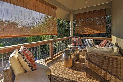 Take in the outstanding views from the private balcony.