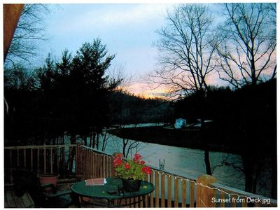 Photo for 5 Star Riverfront on New River 43 acres tubing,fishing, kayak, hiking porch