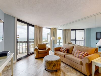 Photo for 9th Floor Comfortable Vacation Condo, Multiple pools & splash pad, Gulf-front