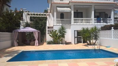 Photo for Well kept beach house with pool and beautiful sea views