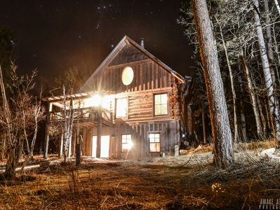 Photo for Wonderful Log Cabin with Heated Pool Next Door and Close to Everything!