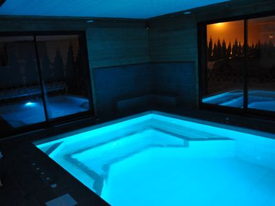 Photo for Cottage in charming residence cottage / Indoor pool-Sauna-Steam / Haute-Savoie