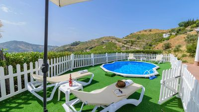 Photo for Modern design holiday villa with views of the surrounding hills