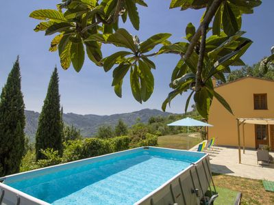 Photo for Wonderful private villa for 6 people with WIFI, private pool, TV, balcony, pets allowed and park...