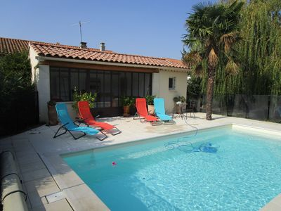 Photo for seasonal rental of a house with garden and pool