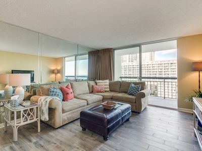 Photo for Ocean view condo with new furniture, flooring and remodeled bathrooms!!
