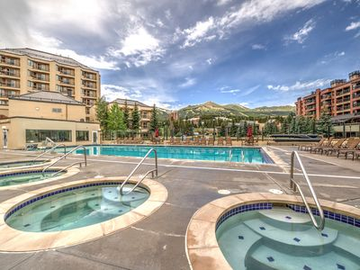 Photo for Great in town condo on the Blue River w/ amazing outdoor pool, hot tubs