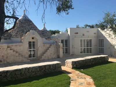 Photo for Charming Trullo with Private Pool, 6-8 Sleeps.  One hectare of park.
