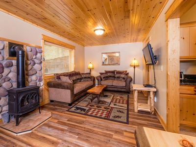 Photo for Updated Warm & Comfy Condo on the Fall River! Quiet Setting between Town & RMNP.