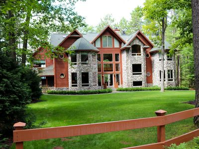 Photo for Beautiful 11,600 SQ' Mullett Lake Home & Carriage house,  Private  2.5 Acre Lot