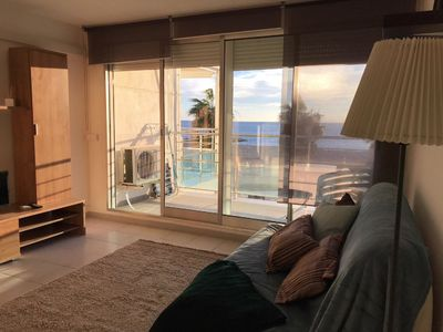 Photo for Apartment few steps away from the beach, sea view
