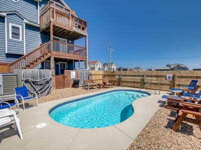 Photo for Park Place | 59 ft from the beach | Private Pool, Hot Tub | Kitty Hawk