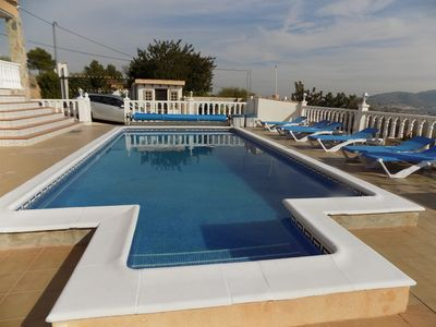Photo for Fantastic Four Bed, Two Bathroom Villa, with Private Heated Pool, Aircon & wifi.