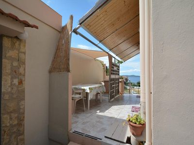 Photo for Studio flat with terrace and sea view Kožino, Zadar (AS-5893-a)
