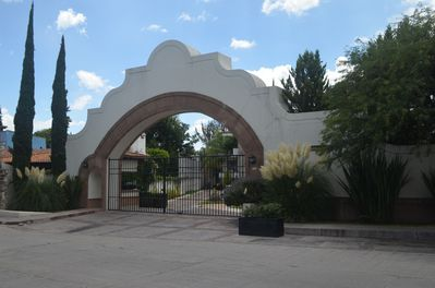 Welcome to Puente Viejo. On left is the guard house. Entry identity is needed.