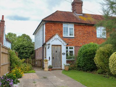 Photo for Comfortable, characterful cottage for 3 in Tenterden, woodburner and parking