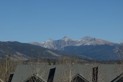 View of the continental divide from the loft room.
