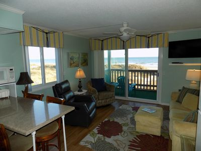 Photo for Spotless, Beautiful ocean front condo in Windy Hill Beach, New owner, updated