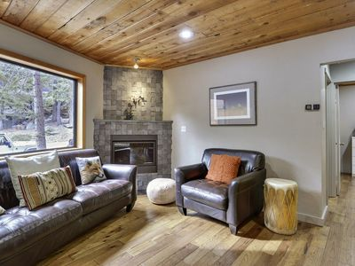 Photo for Newly Remodeled Modern Alpine Meadows Cabin. Private Hot Tub and Deck. Only 1.5 Miles from Alpine Meadows, 5 Minutes or Squaw and Tahoe City.