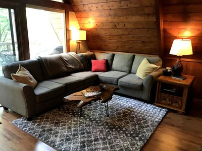 Photo for Appalachian A-Frame  Cozy, Private Cabin 20 Minutes from downtown Boone, NC