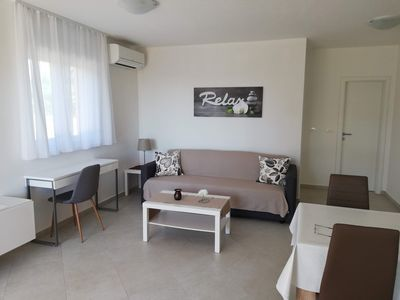 Photo for Apartment Silvija with sea view and parking, 200m from the sea