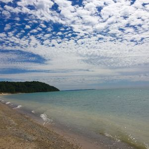 Lake Michigan waterfront home in Northport, sunset view, pet ok