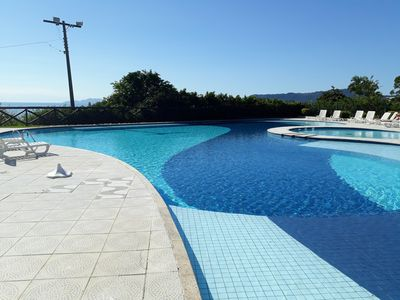 Photo for Apt 2 bed. Par 6 people, with sea view and pool on the beach of Canasvieiras