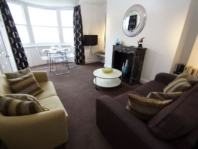 Photo for New Steine Apartment: 1 bedroom, sleeps 4, central location, seaview, WiFi
