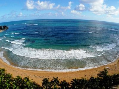 Photo for Dream Vacation on the Beach!   Beach Front  Ocean View Condo in Luquillo P.R.