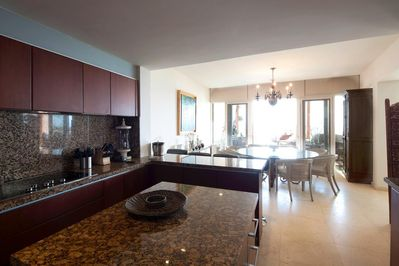 Vista del Mar Three bedroom penthouse ocean view Kitchen and Dining Room