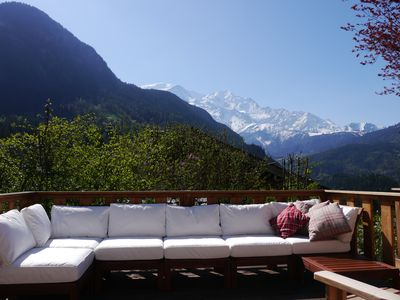 Photo for Chalet les Combes - stunning views of Mt Blanc