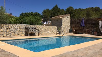 Photo for Charming rustic finca, large private pool and garden, BBQ and olive grove