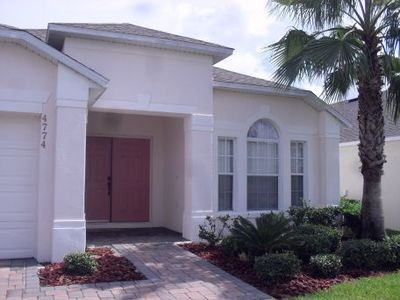 Front of the house with recent landscaping