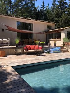 Photo for Charming Villa under the Pines with Pool in Puyricard, Aix en Provence