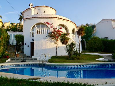 Photo for Luxury Villa (ideal 2 families), private pool, sea views, BBQ, terraces, wifi