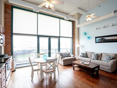 Photo for Luxury Waterfront Condo Retreat For 6 w/ Cedar Point View!