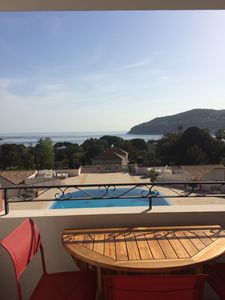 Photo for Superb sea view - Bay of Villefranche - pool - 100 m from the beach