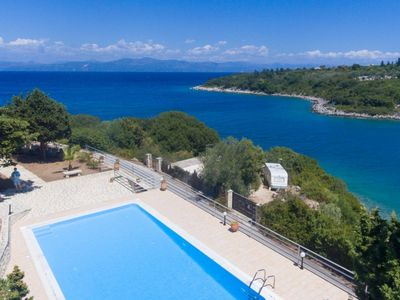 Photo for Dolphin House: Large Private Pool, Walk to Beach, Sea Views, A/C, WiFi, Car Not Required